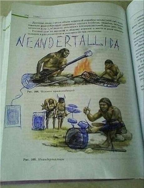 Neanderthal drummer