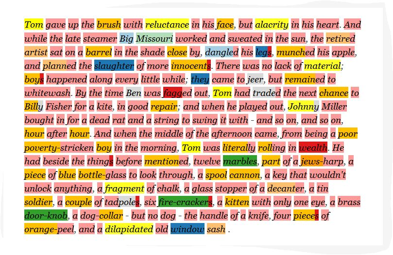 Words in color