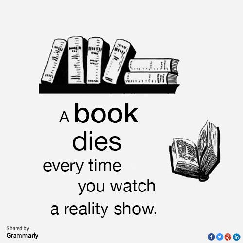 A book dies