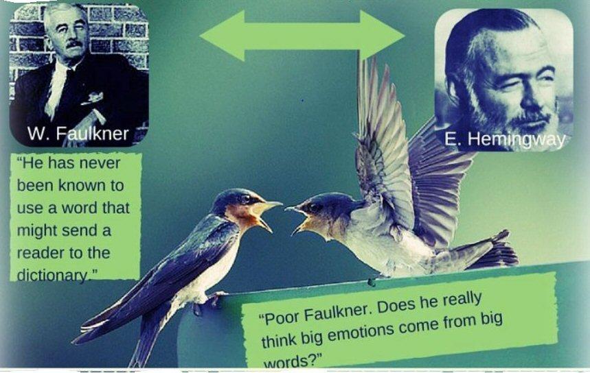 Faulkner Hemingway