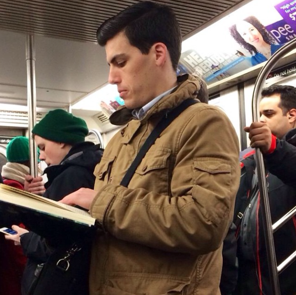 hot dude reading
