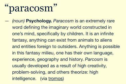 Paracosm definition