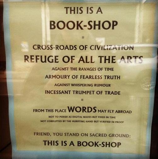 Bookstore Sign