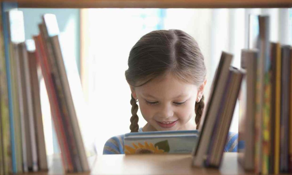 Child in Library photo