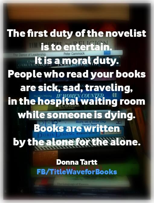 Donna Tartt Quote poster