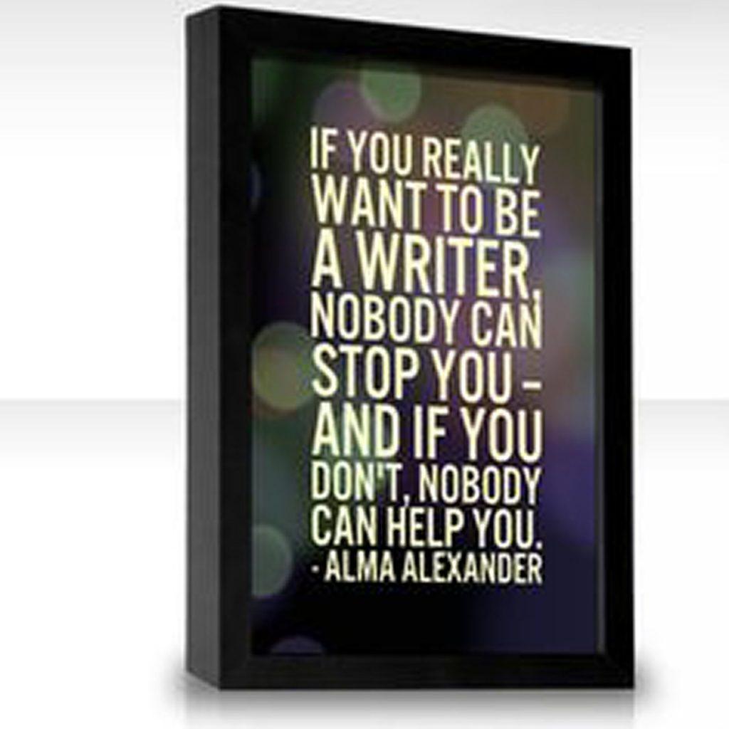 Alma Quote poster