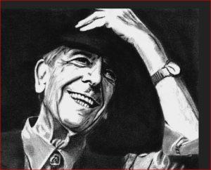 Leonard Cohen head shot