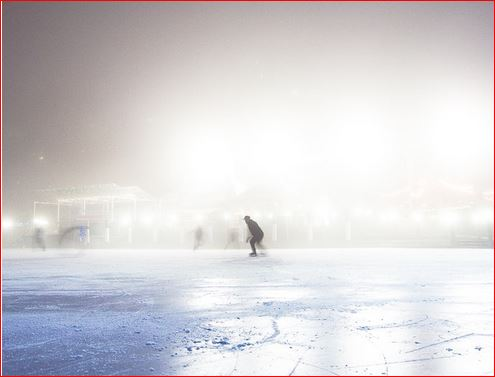 Skating alone on a pond photo