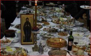 a slava feast and candle