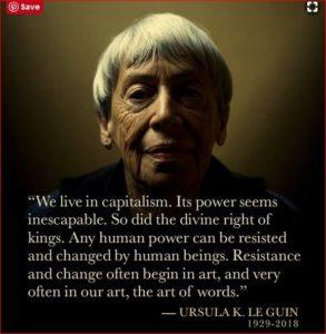 Ursula Le Guin photo poster