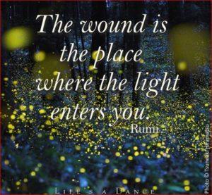 Rumi light illustration
