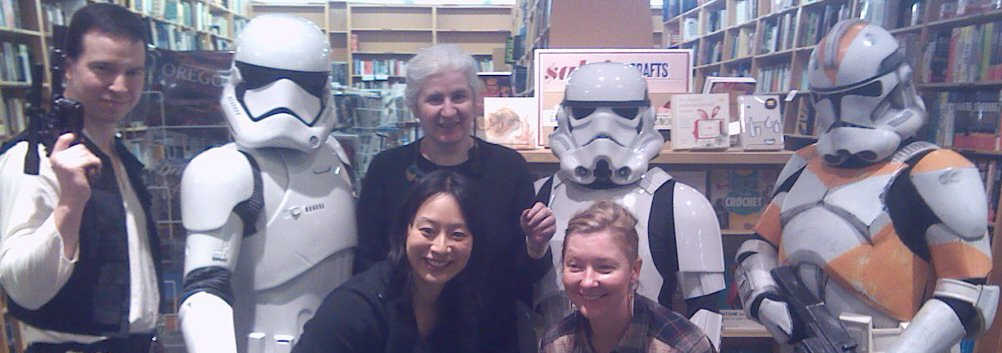 Stormtroopers and me at a con photo
