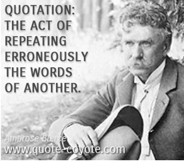 Ambrose Bierce quote illistration