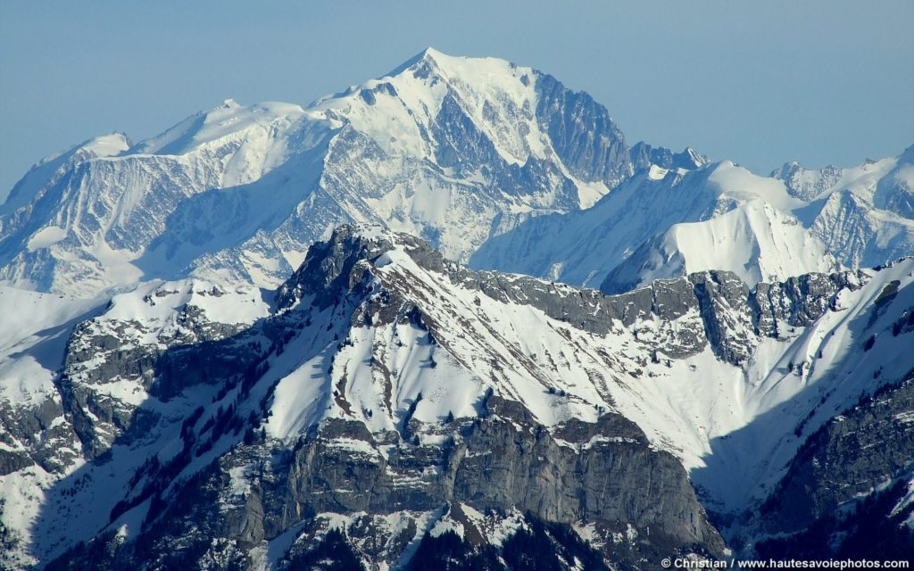 Mount Blanc glaciers