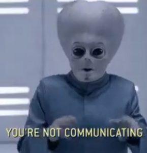 Talking to aliens illustration