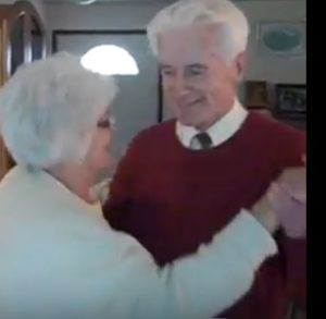Dad dancing with my aunt